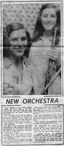 Newspaper article about orchestra