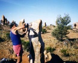 April 1993 Living desert sculpture in the making